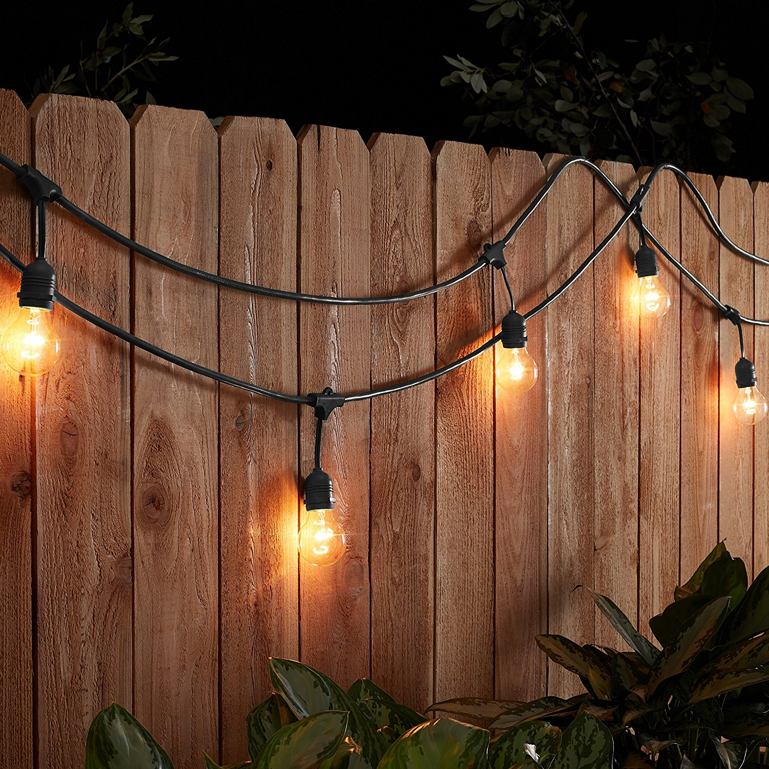 The top 13 best outdoor string lights turn your backyard into a cozy rustic oasis with the amazonbasics weatherproof outdoor patio string lights the premium string of lights quickly creates a workwithnaturefo