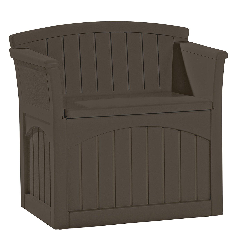 Outdoor Storage Bench Waterproof Deck Seating